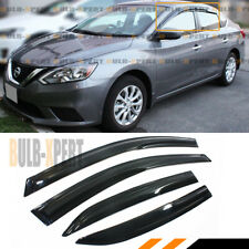 JDM WAVY STYLE SMOKED WINDOW VISOR VENT SHADE FOR 2013-2019 NISSAN SENTRA SEDAN