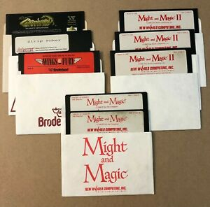 Apple II Software Games Crossbow Strip Poker Wings of Fury Might and Magic