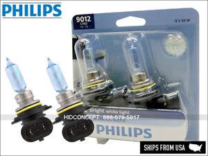 New Gen! PHILIPS 9012 HIR2 Crystal Vision Ultra 4000K 12V 55W 9012CVB2 DOT PAIR
