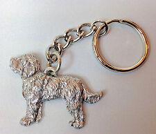 Labradoodle Dog Keychain Keyring Harris Pewter MadeUSA Key Chain Ring