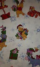 DISNEY WINNIE the POOH Christmas 100% Cotton Scrub Top Sz S