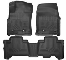 Husky Liners WeatherBeater Floor Mats - 3pc - 99571- GX460/4Runner 13-17 - Black
