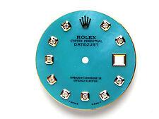 Men's Rolex Datejust 2Tone Non-Quickset 1601 Ice Blue Color with Diamond