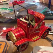 VINTAGE KO JAPAN 1782 CRANK For Child Land Paradise CAR W/DRIVER TIN TOY