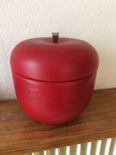 rare BAC à Glaçons  Pomme recouverte de cuir / simili   Seau à glace an 70's