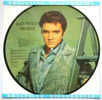 MINT! ELVIS  PRESLEY TROUBLES VINYL PICTURE PIC DISC LP DANISH DENMARK
