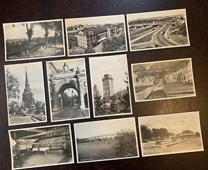 Bulk Lot Of 10 Vintage Postcards From Stockholm Sweden Black & White 1950s