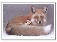 Affiche Offset Féerie Elfe endormie et renard Daniel Maghen