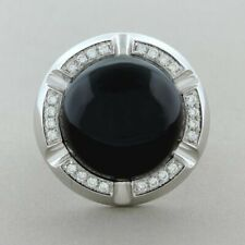 Sleek Black Onyx With Great Luster Lovely Ring Featuring 27.99 Carat Piece Of