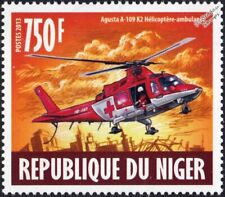 Agusta Westland AW109/A109 Swiss Air Ambulance Helicopter Aircraft Stamp (2013)