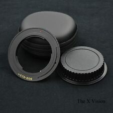 Black EMF AF Confirm Contax Yashica CY lens to Canon EOS Brass adapter 60D 5D II