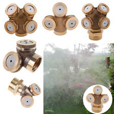 Adjustable High Pressure Spray Nozzle Misting Fitting Sprinkler Water Equipment