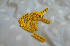 Lego Technic Liftarm 1 x 4 Thin with Stud Connector Ref 2825 in Yellow x 16pcs