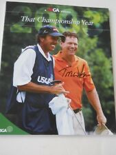 AUTOGRAPHED 2003 USGA THAT CHAMPIONSHIP YEAR GUIDE - TOM WATSON PRO GOLFER