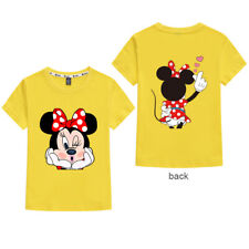 Children Girls Kids Disney Minnie Mouse T Shirt Top Clothing Tee Tops Age 2-11 Y