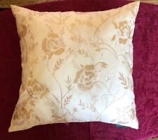 LUXE-HABITAT SQUARE Embroidered Beaded DECORATIVE Waterfowl Feathers PILLOW 22""