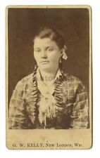 19th Century Fashion - Original Carte-de-visite, CDV - New London, Wisconsin