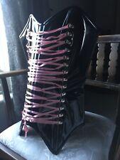 Dominatrix,Steel Boned Bustier,Corset ,Stunning Fancy Dress,Halloween Fetish Pvc