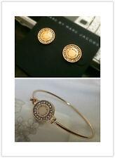 Marc by Marc Jacobs Gold Disc Letters Bracelet Earrings #J0031