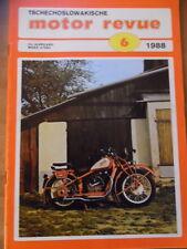 Tschechoslowakische MOTOR REVUE Nr. 6 - 1988 * Jawa Tatra 815-S3 AVIA Salon AZNP