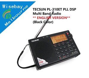TECSUN PL-310ET PLL DSP Multi Band Radio-ENGLISH VERSION-Black Color-Melbn Stock