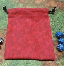 Red Marbled dice bag, card bag, makeup bag