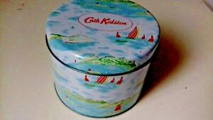 Cath Kidston Collectors Nautical  Sailing Scene Blue Empty Decorative Hobby Tin