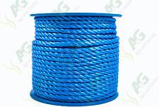 12MM x 50 mètres multifilaments polypropylène bleu câble sur bobine