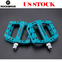 ROCKBROS Mountain MTB Road Bike Bicycle Bearing Pedals Wide Nylon Pedals Blue US