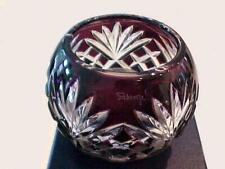 Signed Faberge Na Zdorovya Purple Cut To Clear Crystal Votive New In Box