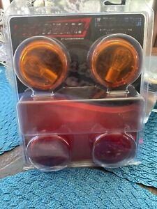 Harley Davidson OEM Bullet Turn Signal Lens Kit Red/Amber Bulbs Motorcycle Part