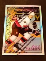 1995-96 Topps Finest Silver Refractor Alexei Yashin Ottawa Senators #151