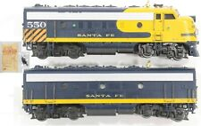 HO Athearn Santa Fe F7A/B Set Both Powered Excellent Custom Details