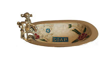 Solid Brass Soap Dish ~ Bath Dish ~ Bathroom Accessories  ~ Cream Colour