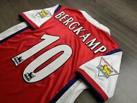 [Retro] - Arsenal Home 1997/98 Winner EPL 2012 10 BERGKAMP with Patches Size L
