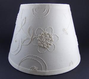 Waverly Candlewicking Candlewick Classic White Fabric Lampshade Lamp Shade