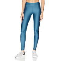 Under Armour Womens HeatGear Graphic Leggings Bottoms Pants Trousers Blue Sports