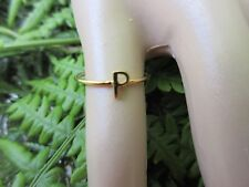 14KT GOLD INITIAL P STACK RING SZ/5
