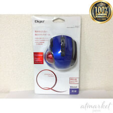 Digio 2 Q Small Trackball Bluetooth Mouse Quiet 5 Button Blue 48373 from JAPAN