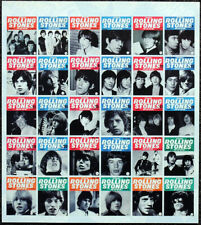 THE ROLLING STONES POSTER PAGE . MONTHLY MAGAZINE FRONT COVERS MONTAGE . W7