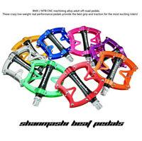 SMS Mountain Bike Pedals BMX Lightweight Pedals Aluminum Fixed Gear 8 Colors