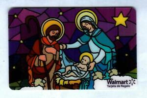 WALMART ( Puerto Rico ) Nativity Stained Galss Window 2011 Gift Card ( $0 )