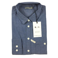 RM Williams Womens Long Sleeve Blue Lady Grazier Button Shirt Size 10 RRP $149