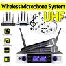 UHF Wireless Microphone System Radio KTV with 2 Handheld Cordless Microphones