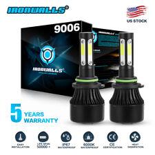 4 Sides 9006 HB4 2400W 360000LM LED Headlight Kit High Low 6000K White Fog Bulb