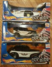 Hot Wheels Full Set of 3 Cop Rods Ultimate Police Cruisers Vehicles 1:24 NISB!