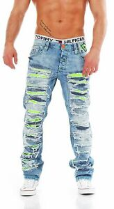 CIPO & BAXX C-1053 Regular Fit Ripped Used Look Herren Jeans Hose