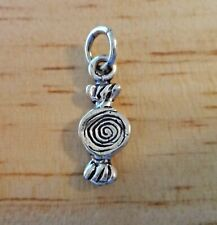 Sterling Silver 17x6mm TINY Piece of Wrapped Hard Candy Charm
