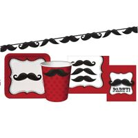 Moustache Party Tableware, Decorations & Balloons