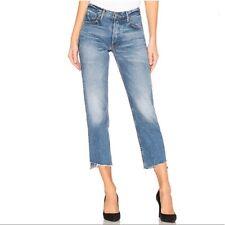 GRLFRND Helena High Waist Straight Leg Jeans Turn Blue Sz 24 NWT Q45
